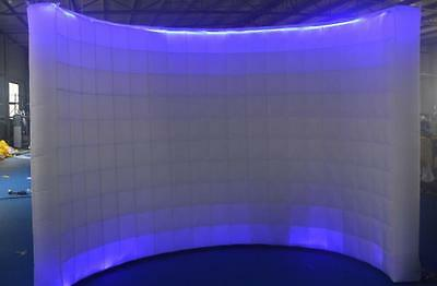 Inflatable LED White Photo Booth Wall - Weddings Birthdays Events Advertising