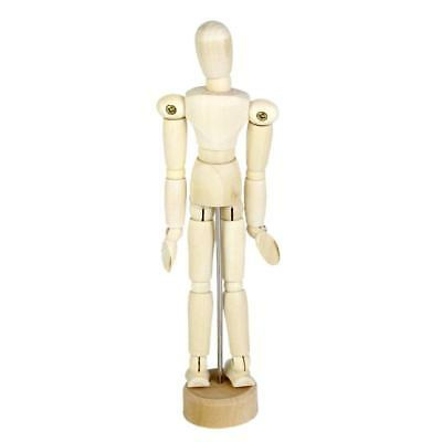 "Artists Model Articulated Wood Human Body 5.5"" Jointed Stand Movable Limbs"