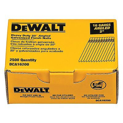 Black & Decker Dewalt  DCA16200 2-Inch by 16 Gauge 20-Degree Finish Nail (2,500