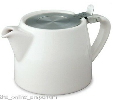 VANILLA WHITE SUKI FORLIFE 18oz (530ml / 2 CUP) LOOSE LEAF TEAPOT WITH INFUSER