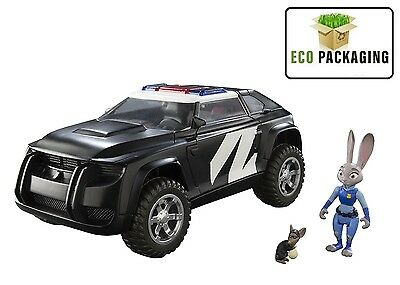 Tomy Zootropolis Police Cruiser Vehicle with Judy and Mouse Perp
