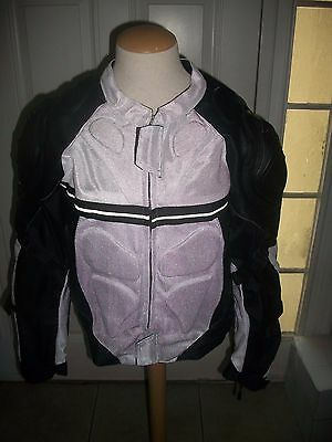 Mens Armor Motorcycle Cordura Polyester Waterproof Windproof Jacket White