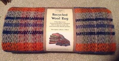 Recycled Wool Mixed Colour Picnic Rug Throw Travel Blanket by Tweedmill