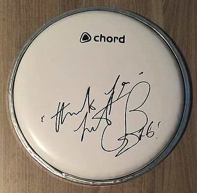 Charlie Watts Hand Signed Autograph Drumhead Skin The Rolling Stones Music COA