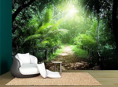 Forest Way Trees Nature Plant Green Photo Wallpaper Wall Mural GIANT WALL DECOR