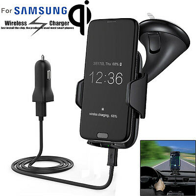 Qi Wireless Charger Charging Car Mount Holder for Samsung Galaxy S6 S7 Note5 Lot