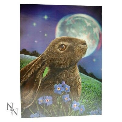 Lisa Parker *moon Gazing Hare* 3D Picture  Gothic/occult/witch/pagan New