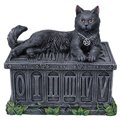 Nemesis Now Designer Tarot Card Box *fortune's Watcher* Cat New & Boxed