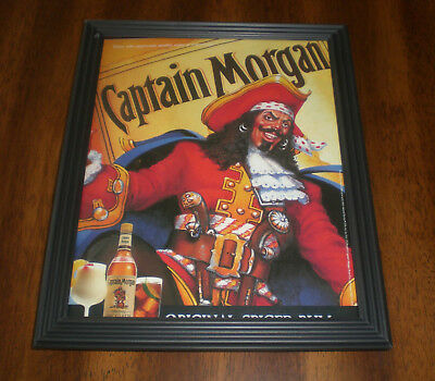 Captain Morgan Original Spiced Rum Framed Ad Print