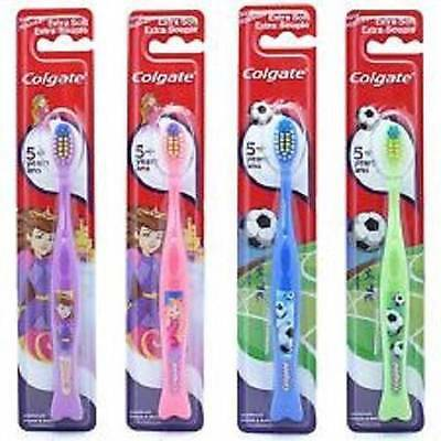 ** Colgate 5+ Years Extra Soft Souple Toothbrush Childrens Various Colours New