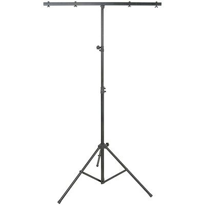 QTX LT01 Lightweight Steel Lighting Stand 30kg DJ Disco Stage T-Bar Tripod Stand