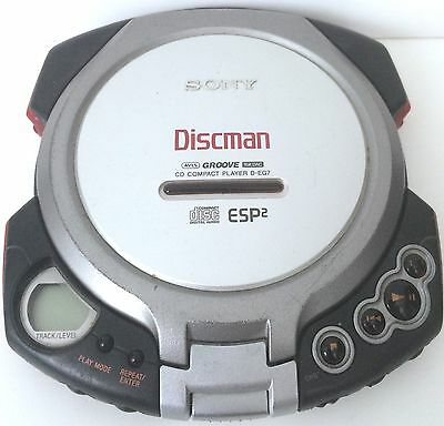 Vintage Sony Discman D-EG7 Personal Compact Disc Player TESTED WORKS!