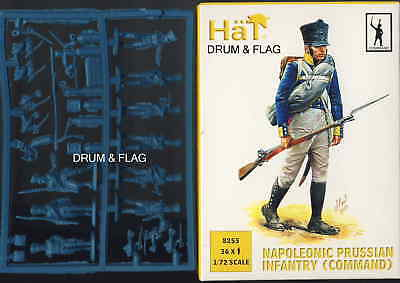 Hat 8255 Napoleonic Prussian Infantry Command Set 1/72 Scale Prussians