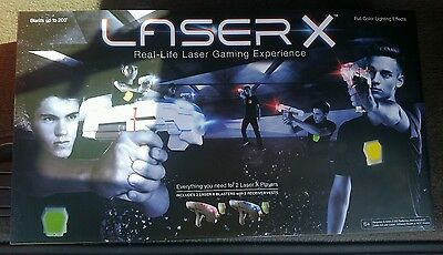 Brand New! LASER X - Two Player Laser Gaming Set - PRIORITY SHIPPING!
