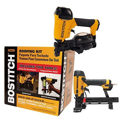 Bostitch ROOFKIT2 1-3/4 In Roofing Nailer and 18-Gauge Cap Stapler Combo Kit