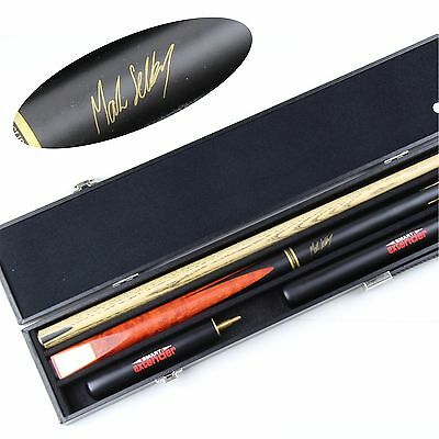 """BCE Mark Selby 4pc Signature Series Snooker Cue with 6"""" & 12"""" Ext & Hard Case"""
