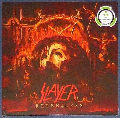 Slayer - Repentless on half Black, half White vinyl. Limited to 500 copies.