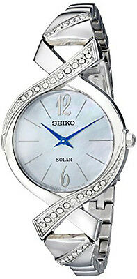 Seiko Women's Analog Display Analog Quartz Silver Watch SUP263