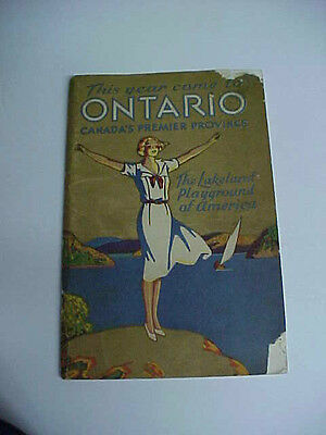 wonderful art deco travel brochure for the province ontario canada dated 1931