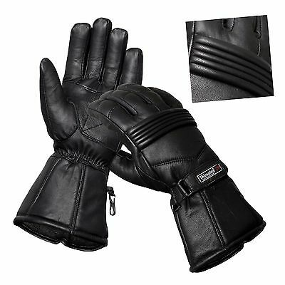 Thermal Winter Motorbike Motorcycle Leather Gloves Waterproof Protection Sale