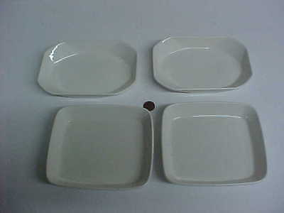 4 vintage air canada plates for aircraft passenger food service royal doulton