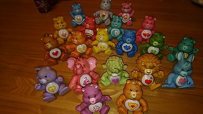 Vintage Set of 20 Posable Care Bears by Kenner  inc Champ Bear & Share Bear