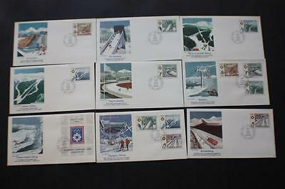 Set #1645-51 Winter Olympics Yugoslavia Stamp Fleetwood First Day Covers Fdc