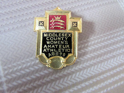 MIDDLESEX County Womens Amateur ATHLETIC Association Badge 1953