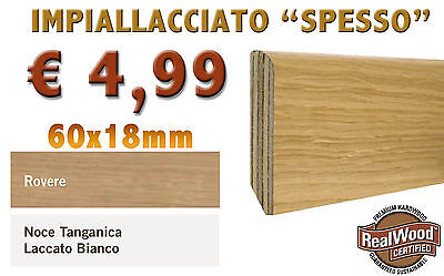 Battiscopa impiallacciato thick beak di owl oak o white lacquered 60x18
