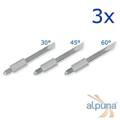 3 Plotters for Graphtec 1,5mm - 45° ALPUNA Quality blades