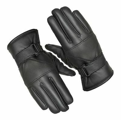 Mens Leather Gloves Thermal Thinsulate Lined Driving Soft Warm Winter