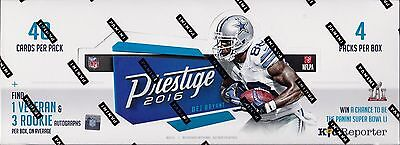 2016 Prestige Football hobby box sealed unopened 4 packs of 40 NFL cards 4 auto