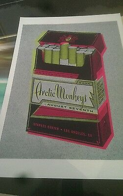 Arctic Monkeys rare promotional poster A3 super quality heavy canvas paper