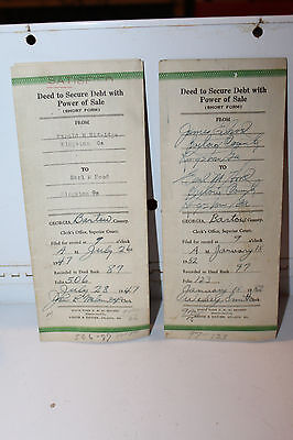 Vintage Lot 2 Deed To Secure Debt with Power of Sale Bartow County Georgia 1947