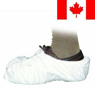 Groom Industries White Disposable Shoe Covers (50 Pairs), 100 Count