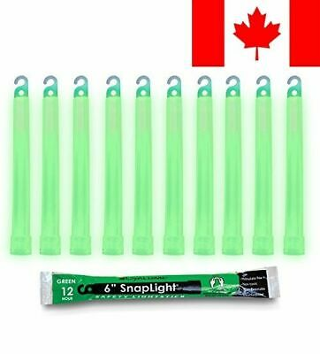 Cyalume Snaplight Industrial Grade Light Sticks, Green, 6-Inch - Pack of 10