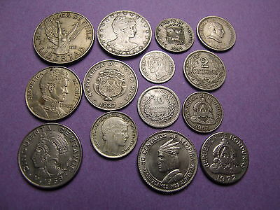 Collection Of Coins From Latin & South America  , Some Silver Or High Grade