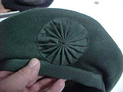 original canadian army dark  green irish caubeen cap  korea war dated 1952