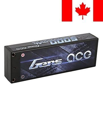 Gens ace LiPo Battery Pack 5000mAh 50C 2S 7.4V HardCase 10# with Deans T Plug...