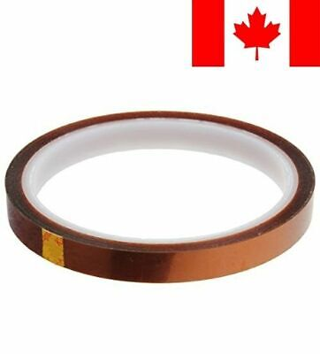 VORCOOL 33M 10MM Wide High Temperature Heat Resistant Kapton Tape Polyimide F...