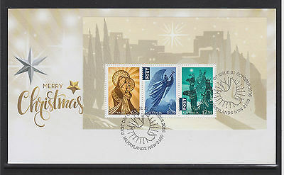 Australia 2016 : Christmas First Day cover with Minisheet, Mint Condition.