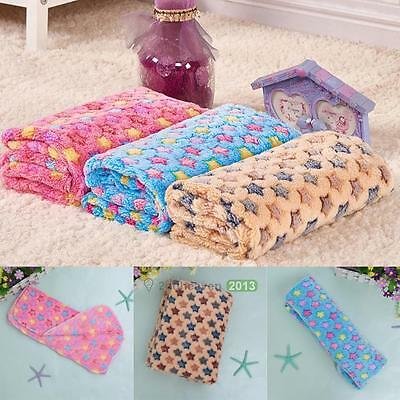 Hot Warm Soft Pet Dog Cat Puppy Fleece Blanket Bed Mat Stars House Cushion Cover