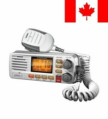 Uniden UM380 Class D Full - Feature Fixed Mount VHF Marine Radio, White