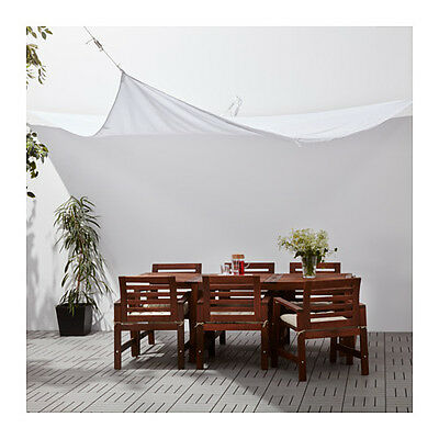 Ikea Dyning White Wedge~Triangle Canopy Outdoor Shade New Free Priority