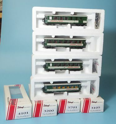 "STAENGL / Roco H0e In set 4 Car ""Schafkaes Express"" the ÖBB for Narrow gauge H0e"