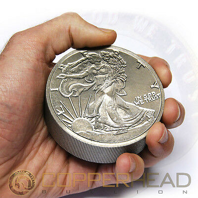 One Pound (16oz) Titanium Coin Walking Liberty .999 Fine Bullion Round Bar 1 lb