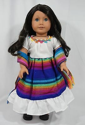 "Mexican outfit fit 18"" & american girl doll"