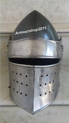 Medieval Barbute Helmet Armour Roman knight helmets with Inner Liner