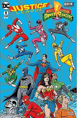 Justice League Power Rangers 1 Fried Pie Color Mike Allred Variant