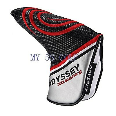 Golf Red Circle Odyssey Magnetic Putter Covers Blade Head Cover Headcover
